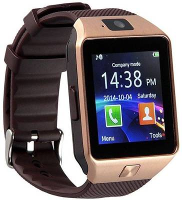 Bingo T30 Gold Sim Compatible With Bluetooth Synchronisation Smartwatch (Black Strap)