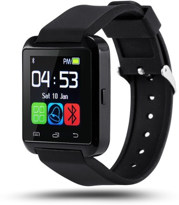 Medulla U8 Black Smartwatch(Black Strap Regular)