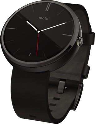 Motorola Moto 360 Smartwatch(Black Strap)