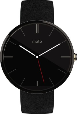 Motorola Moto 360 Black Leather Smartwatch