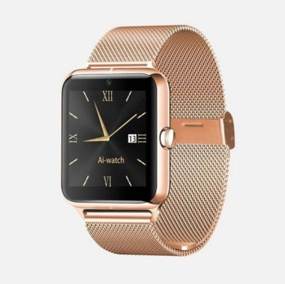 Maya Smart Watch with heart rate Smartwatch(Gold Strap Regular) at flipkart