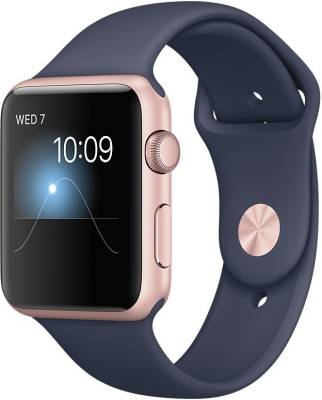 Apple Watch Series 1 - 42 mm Rose Gold Aluminium Case with Midnight Blue Sport Band Midnight Blue Smar...