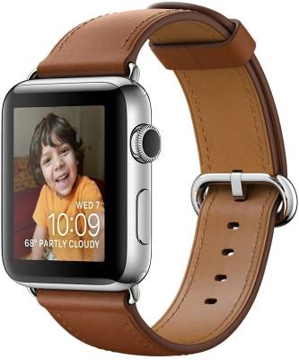 Apple Watch Series 2 - 38 mm Stainless Steel Case with Saddle Brown Classic Buckle Brown Smartwatch