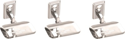 Osian Set of 3 Pieces Stainless Steel Shop Dish   Omni Series Silver