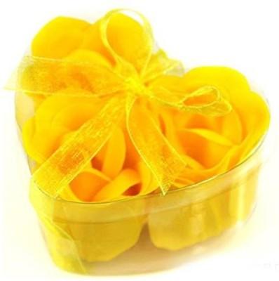 Futaba Heart Shape Romantic Bath Rose petals Yellow(yellow)