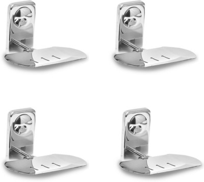 Handy Stainless steel Soap dish pack of 4(steel)