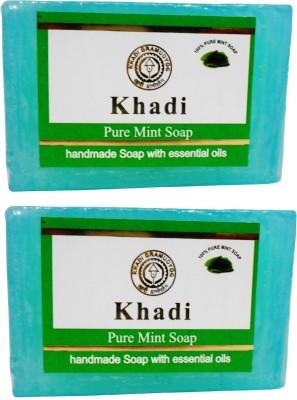 Khadi Pure Mint Soap, 125 GM (Pack of 2)