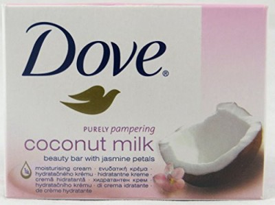 Dove Purely Pampering Coconut Milk with Beauty Bar Soap (Pack of 12 Bars)(12 x 8.33 g)