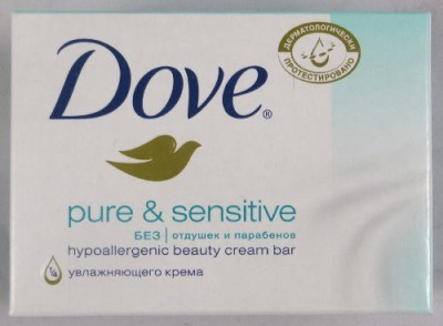 Dove Pure & Sensitive Bar Beauty Cream Bar Soap (Pack of 12)(135 g, Pack of 12)