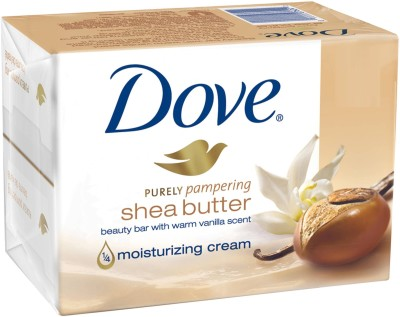 Dove Purely Pampering Shea Butter Beauty Bar with Vanilla Scent Soap(1200 g, Pack of 12)
