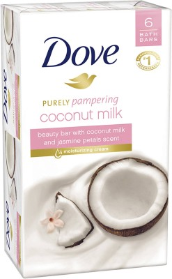 Dove Purely Pampering Coconut Beauty Bar with Jasmine Petals Scent(6 x 18.67 g)