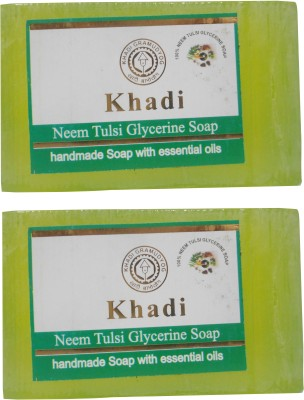 Khadi Neem Tulsi Glycerine Soap 125 GM Pack of 2