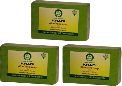Khadi Herbal Pure Aloe-vera(375 g, Pack of 3)  available at flipkart for Rs.179