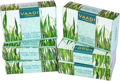 Vaadi Herbals Herbals Royal Indian Khus Soap with Olive & Soyabean Oil - Pack of 5(75 g, Pack of 6)  available at flipkart for Rs.252