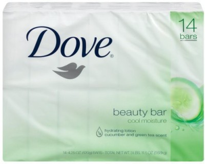 Dove go fresh Cool Moisture Beauty Bar Bars 14 Count(120 g, Pack of 14)