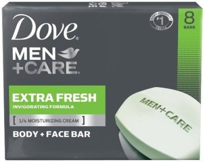 Dove Men+Care Body and Face Bar Extra Fresh 8 Bar(120 ml, Pack of 8)