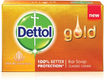 Dettol Gold Classic Clean 50GM - Pack of 12(12 x 50 g)