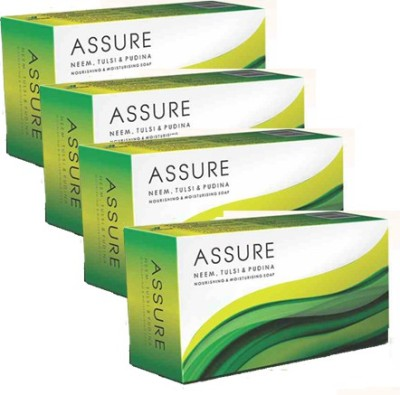 Assure Neem, Tulsi & Pudina Soaps - Set of 4(400 g, Pack of 4)
