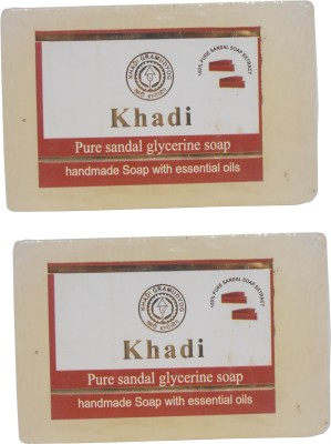 Khadi Herbal NaturalPure Sandal Glycerine Soap Pack Of 2(250 g, Pack of 2)