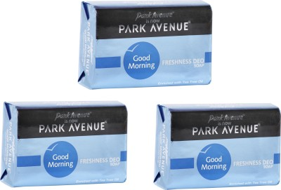 Park Avenue Good Morning Freshness Deo Soap - Set of 3(Pack of 3)  available at flipkart for Rs.135