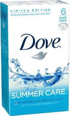 Dove Summer Care Bar Soap Limited Edition 6 Count(120 ml, Pack of 6)