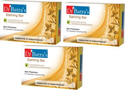 Dr. Batra's Bathing Bar Skin Protection - Tea Tree And Tulsi(375 g, Pack of 3)  available at flipkart for Rs.240