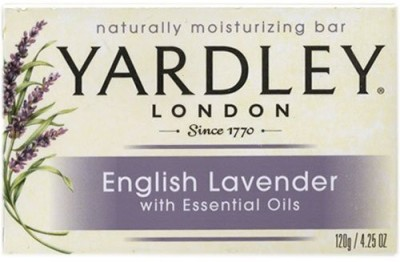 Yardley London Bar Soap - English Lavender with Essential Oils Bar (Pack of 3)(120 g)  available at flipkart for Rs.1479