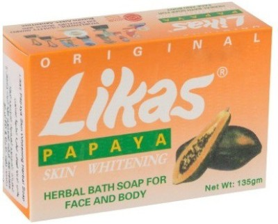 Likas Papaya Soap Papaya Skin Whitening Soap(135 g)  available at flipkart for Rs.230