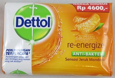 Dettol Anti-Bacterial Bar Soap Re-Energize (Pack of 12)(110 g, Pack of 12)