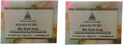 Khadi Mix Fruit Bathing Bar 250 GM Pack of 2