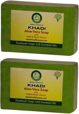 Khadi Herbal Pure Aloe-vera soap(250 g, Pack of 2)  available at flipkart for Rs.130
