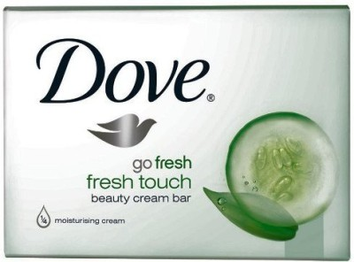 Dove Go Fresh Cool Moisture Beauty Bar Cucumber and Green Tea Scent(Pack of 12 Bars)(100 g, Pack of 12)