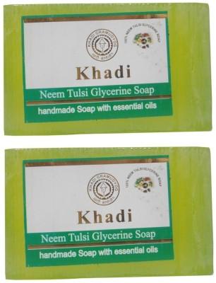 Khadi Neem Tulsi Glycerine Soap, 125 GM (Pack of 2)