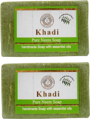 Khadi Herbal NaturalPure Neem Soap Pack Of 2(250 g, Pack of 2)