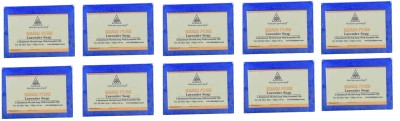 Khadi Pure Natural Handmade Pure Lavender Soap with essential Oil(1250 g, Pack of 10)  available at flipkart for Rs.584