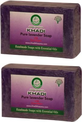Khadi Pure Lavender Soap, 125 GM (Pack of 2)