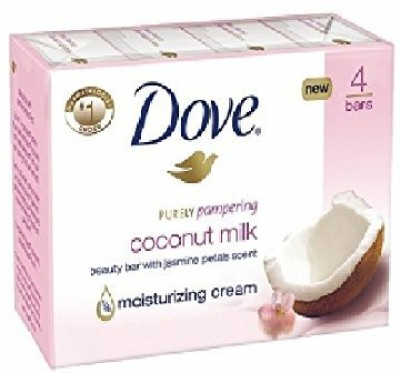 Dove Purely Pampering Beauty Bar - Coconut with Jasmine Petals(4 x 30 ml)