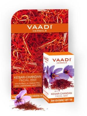 Vaadi Herbals Kesar Chandan Facial Bars With Extract Of Orange Peel (25 gm x 6)(6 x 4.17 g) at flipkart
