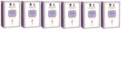 Yardley London English Lavender Luxury Soap - Pack of 6(600 g, Pack of 6)  available at flipkart for Rs.329