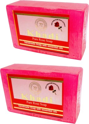Khadi Herbal NaturalPure Rose soap(250 g, Pack of 2)