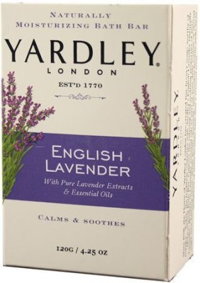 Yardley London London Soap Bath Bar, English Lavender & Essential Oils, 4.2 120 G(120 g, Pack of 8)  available at flipkart for Rs.3219