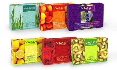 Vaadi Herbals Exotic Floavors - Pack of 6 Luxurious Handmade Herbals Soaps(6 x 12.5 g)