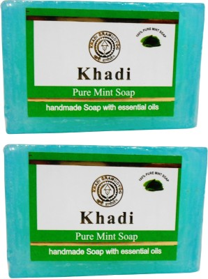 Khadi Pure Mint Soap 125 GM Pack of 2
