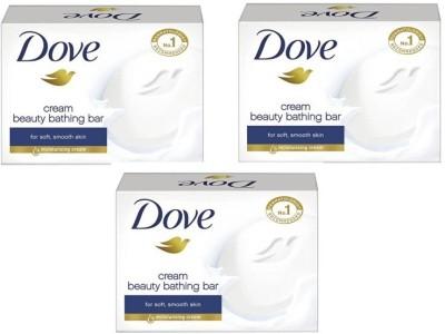 Dove beauty bathing Bar(225 g, Pack of 3)