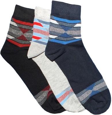Marc Men's Self Design Ankle Length Socks(Pack of 3)