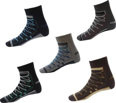 Avm Hw Velvet Men's Graphic Print, Printed Ankle Length Socks(Pack of 5)