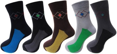 Avm Hw Velvet Men's Self Design Ankle Length Socks