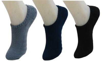 Neska Moda Men & Women Solid No Show Socks(Pack of 3)