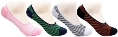 Bonjour Women Striped Peds/Footie/No Show Bonjour Men's and Women's Socks