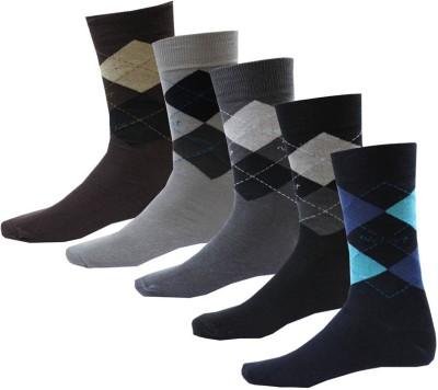 Avm Hw Velvet Men's Graphic Print, Self Design Crew Length Socks